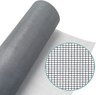 Lazy Dog Warehouse Window Screen Mesh Roll 36?in x 100ft – Fiberglass Screen Replacement Mesh for DIY Projects (Grey Mesh)