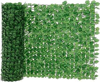 neu.haus Valla de hojas artificiales (100 x 300 cm) PVC