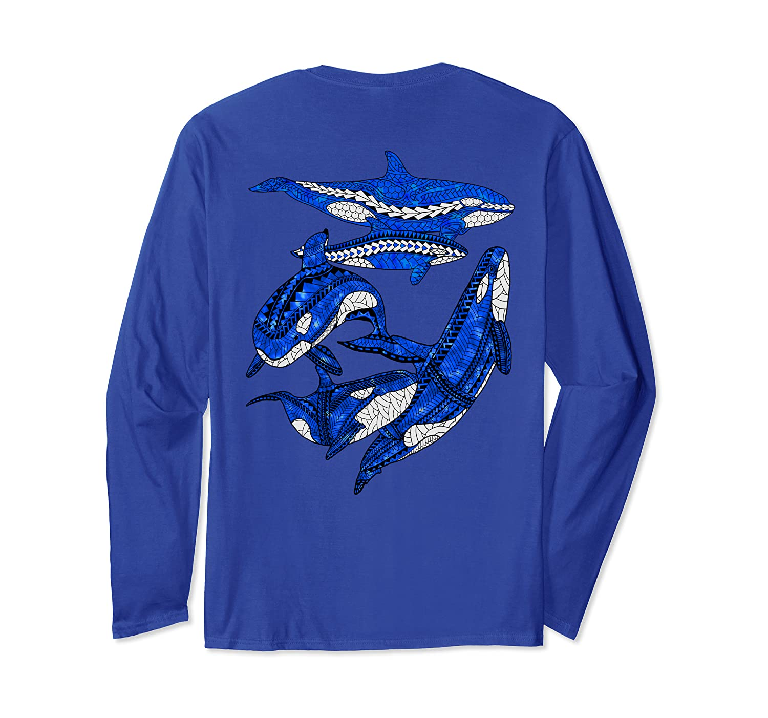 A Pod of Orca Whales Long Sleeve T-Shirt-ANZ