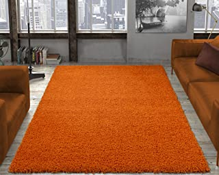 Ottomanson Soft Cozy Color Solid Shag Area Rug...