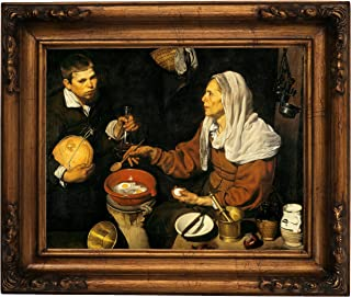 Historic Art Gallery an Old Woman Frying Eggs 1618 by Diego Velazquez 11