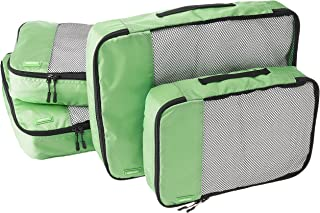AmazonBasics 4-Piece Packing Cube Set - 2 Medium and 2 Large, Green