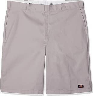 Dickies Men's 13 Inch Loose Fit Multi-Pocket Work Short, Silver, 34