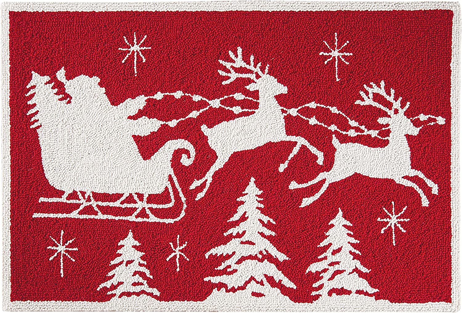 CF Home Flying Santa Sleigh Reindeer Red White Holiday and Wool 5 Ranking TOP20 ☆ very popular