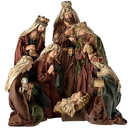 9f04c1fbfbb0 WeRChristmas – Figura Decorativa Pintada a Mano Portal de Belén de Navidad  decoración, 50 cm