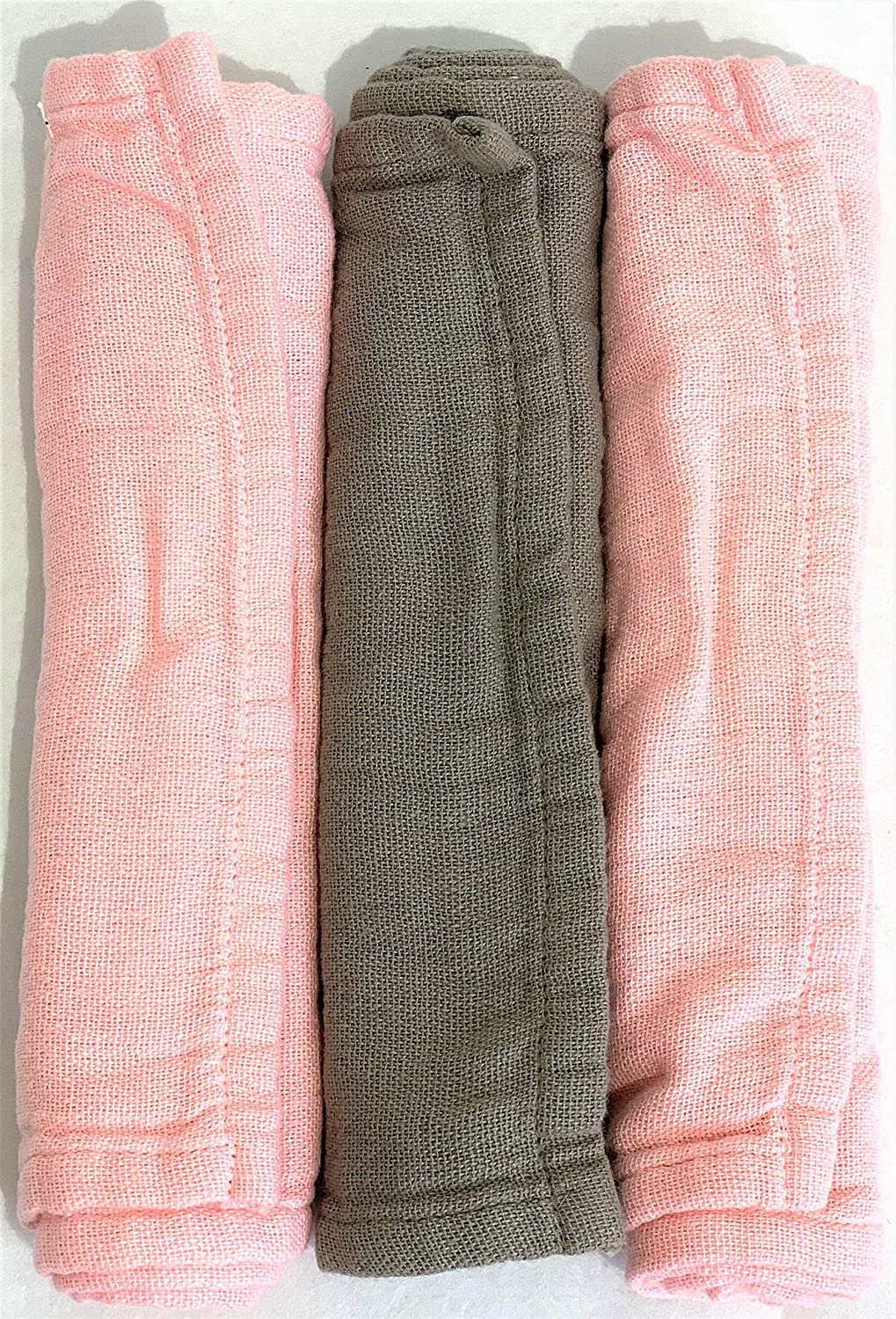 Cotton Baby Burp Cloths in Pink Albuquerque Mall 3 Colorado Springs Mall Pack of - Grey