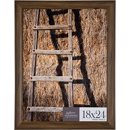 2-Inch Contemporary Upscale Set of Four 760041824L-4 18x24 Inch Distressed Rustic Brown Picture Frame Craig Frames