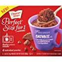 Duncan Hines Perfect Size for 1 Mug Brownie Mix, Ready in About a Minute, Chocolate Brownie, 4 Individual Pouches