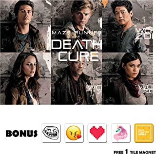 Movie Poster Maze Runner: The Death Cure (2018) - Cast - 13 in x 19 in Flyer Borderless + Free 1 Tile Magnet