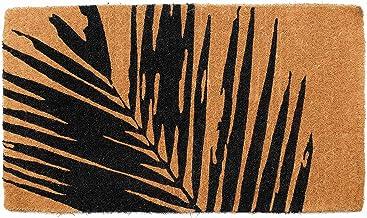 45 cm x 75 cm 100% Coir Doormat Welcome Entry Mat Palm Leaf Fern