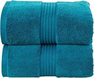 Jumbo Bath Sheet  Bath Sheet Towel for Home, Hotel & Spa – (90 x 180 cm, 2 Pack, 600 GSM in Navy Color) - Quick Dry, Soft ...