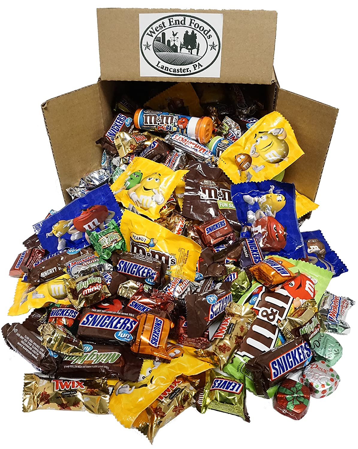 Chocolate Box 5 LBS Halloween Spring new work of Time sale Candy Assortment Snick MM's