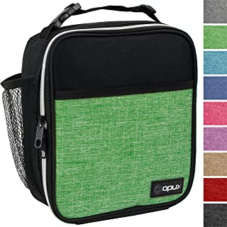 OPUX Premium Insulated Lunch Box | Soft Leakproof School Lunch Bag for Kids, Boys, Girls | Durable Reusable Work Lunch Pail Cooler for Adult Men, Women, Office Fits 6 Cans (Heather Green)