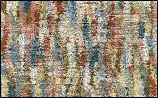 Brumlow Mills Rustic Abstract Bohemian Home Indoor Area Rug with Contemporary Colorful..