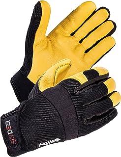 SKYDEER SD2250/L Hi-Performance Soft Deerskin Leather Utility Flexible Work Gloves, Excellent for Mechanical, Labor Protection, Construction, Agriculture, Automobile