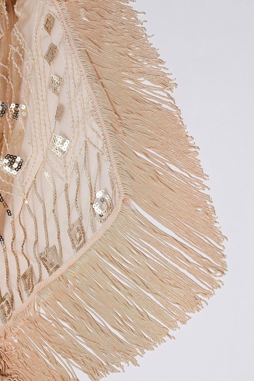 disfraz accesorios estola para vestido de noche bufanda boda novia ArtiDeco Chal retro de los a/ños 20 para mujer fiesta