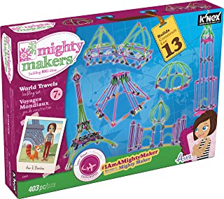 K'NEX Mighty Makers – World Travels Building Set – 403 Pieces – Ages 7+ Constructional Education Toy