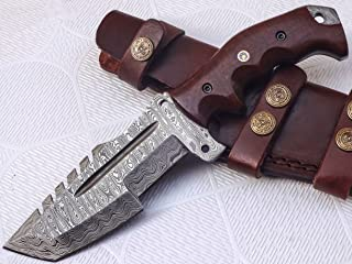 Poshland TR-301, Custom Handmade Damascus Steel Tracker Knife – Stunning Handle