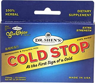 Dr. Shen's Yin Chiao Coldstop Cold or Flu Tablets, 15 Count
