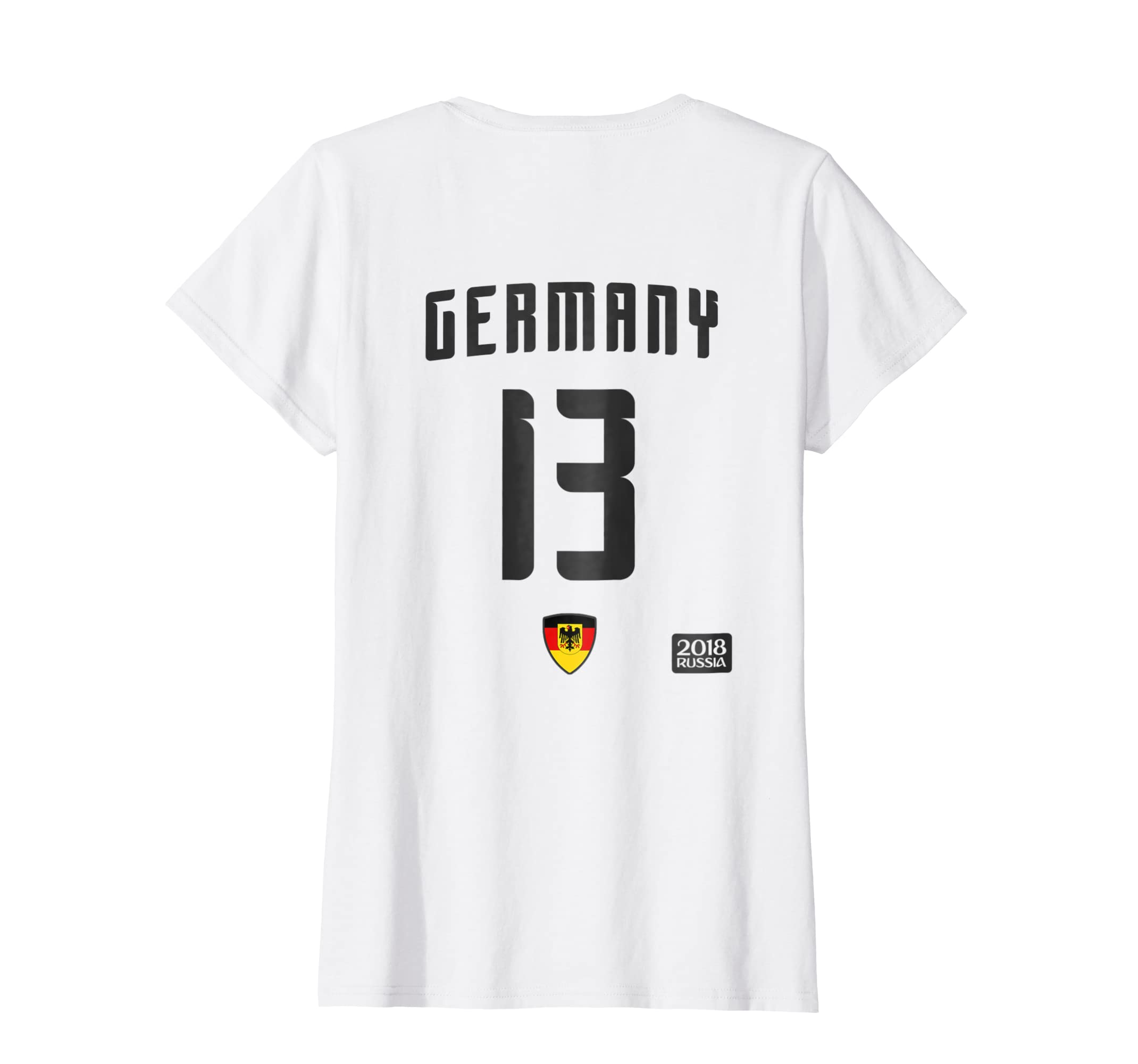 4981d481f8d Amazon.com  Germany 13 White Soccer T-Shirt - Football 2018 Team Jersey   Clothing
