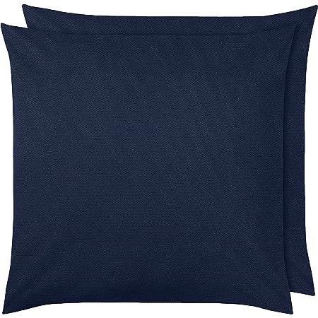 Amazon Basics Pillowcase, Bleu Marine, 65 x 65 cm