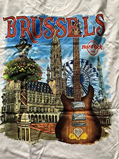Hard Rock Cafe New HRC Brussels (Belgium) City Tee White T-Shirt (L) Large