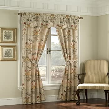 Set of 2 Elegant Comfort Luxury Curtain//Window Panel Set with Attached Valance and Backing 54 X 84 inch Gray LUCIA 2PC SET- Curtains Gray