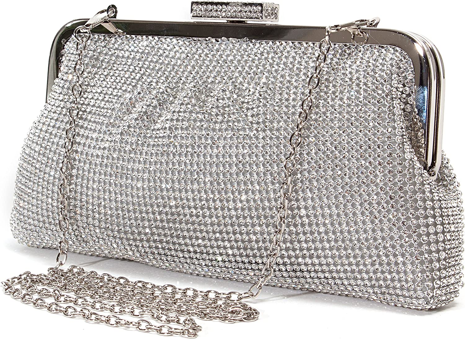 Lady Couture Soft Rhinestone Embellished Clutch Bag by, Bag 2015-7
