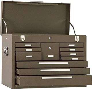 Kennedy Manufacturing 3611B 11-Drawer Machinist's Chest with Friction Slides, Brown Wrinkle