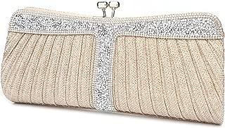 Ladies Sparkling Rhinestone Wedding Evening Party Clutch Handbag Purse Chain Shoulder Crossbody Bag