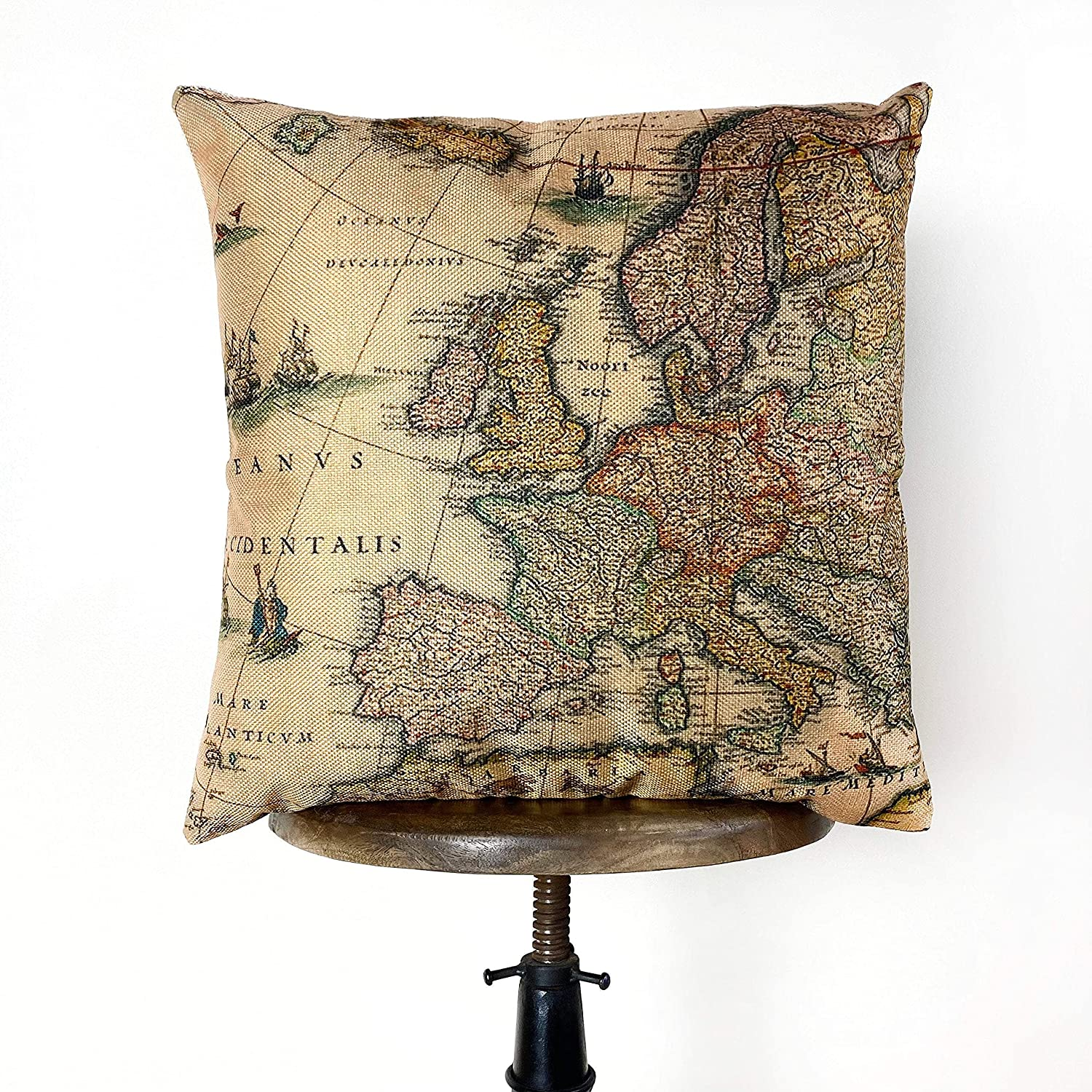 Map of Europe Decor Fashion Max 64% OFF Rustic L Gifts Art Literary