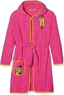 5c1f1fa2726ef5 Playshoes Kinder Frottee-Bademantel Die Maus mit Kapuze, flauschig warmer  Morgenmantel für Mädchen