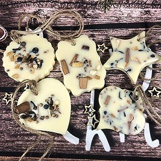 Regalo ecologico 5 decorazioni in cera di soia per albero natalizio, profumo per armadi, cassetti e piccoli ambienti, alle...