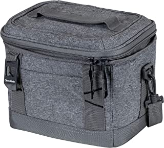 CleverMade Collapsible Soft Cooler Bag Tote - Insulated 6 Can Leakproof Small Cooler Box with Bottle Opener and Shoulder Strap for Lunch, Beach, and Picnic - Grey (8016-LGRY-0503)