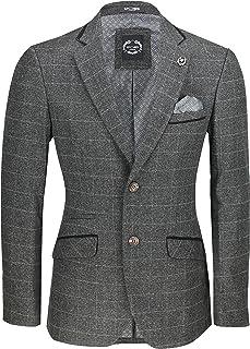 Men's Tweed Blazer Retro 1920s Style Tailored Fit Smart Suit Jacket