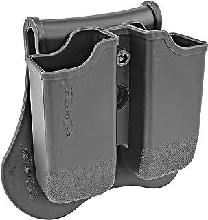 Dual Magazine 360 Swivel Paddle Pouch, Fits 9mm .38 .40 Caliber Glock 17 19 22 23 25 26 27 31 32 33 34 35 37 38 39