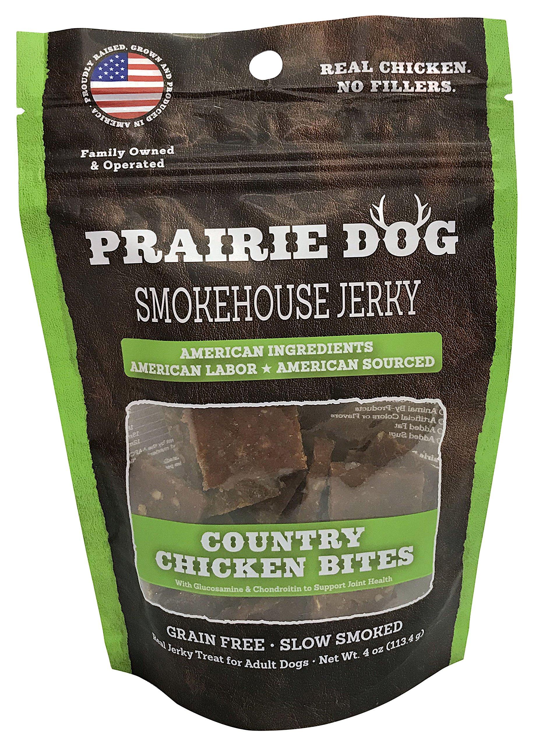 Prairie Dog Smokehouse Country Chicken Bites Dog Treats, 4 Oz.
