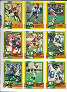 1990 Topps Football Complete 1000 Yard Club Insert Set Of 30 Cards