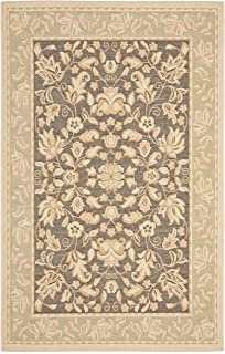 Safavieh Beach House Collection BCH8012-2852 Dark Brown and Green Area Rug (5'3