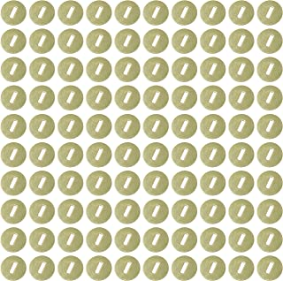 Clipco Paper Washers 1/2-Inch Brass Plated (100-Pack)