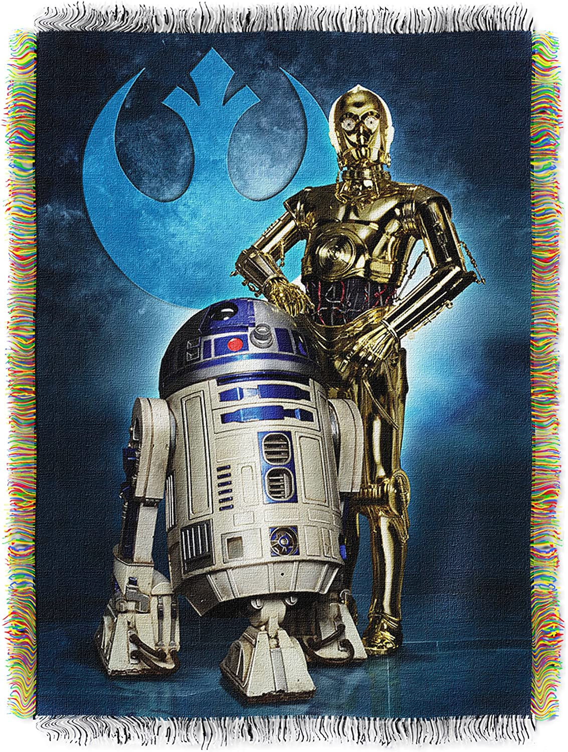 Disney's Star Wars, Droid bluees  Woven Tapestry Throw Blanket, 48  x 60 , Multi color