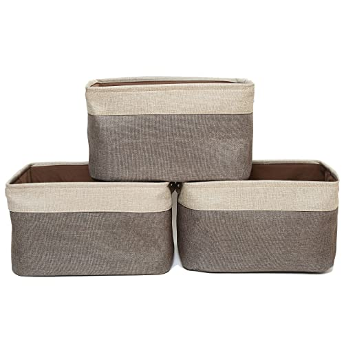 SortWise /® XX-Large Collapsible Storage Bin Basket Foldable Jute Storage Cube Bin With Handles Great For Home Office Closet