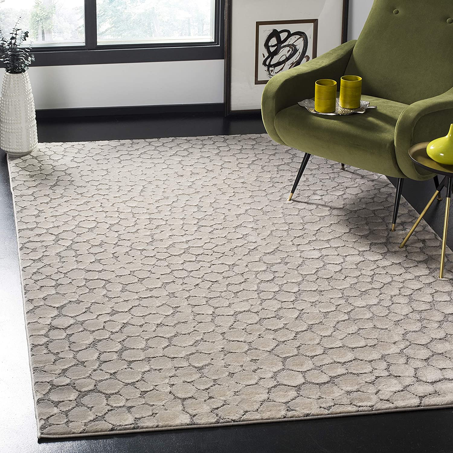 Safavieh half Meadow Gorgeous Collection MDW174B Modern Abstract Rug 6'7 Area