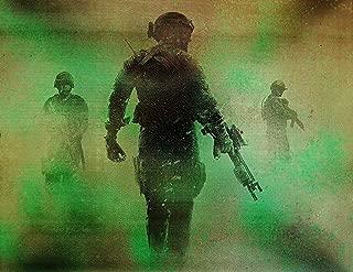 Call of Duty Metal Splatter Art Painting