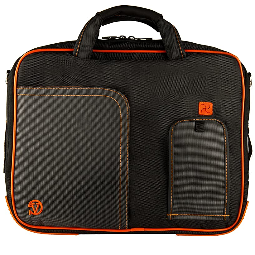 Orange VG Pindar Edition Durable Messenger Shoulder Bag Case for HP 15.6 inch Laptop Models HP 650 / HP 635 / HP 630 / 6570b / 4545s / 4540s / 6565b / 6560b / 4530s / 4535s / 8570p / 8560p / 8560w / 8570w / HP 655 / dv6-7020 us / dv6-7010 us / HP 2000-2a20nr / HP 2000-2a10nr / ENVY 6-1010us / Envy 4-1010us / g6-2010nr / g6-1d80nr / HP Compaq Presario cq58-a10nr + SumacLife TM Wisdom Courage Wristband
