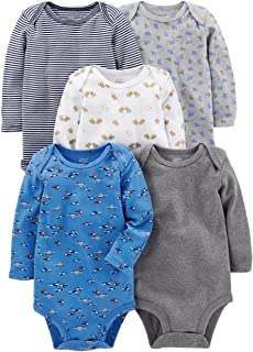 Simple Joys by Carter's Baby Boys' 5-Pack Long-Sleeve Bodysuit