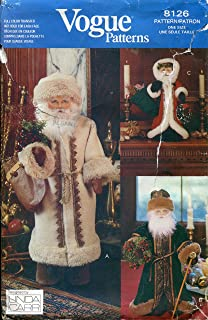Vogue Pattern 8126 Father Christ mas Dolls by Linda Carr Sewing Pattern