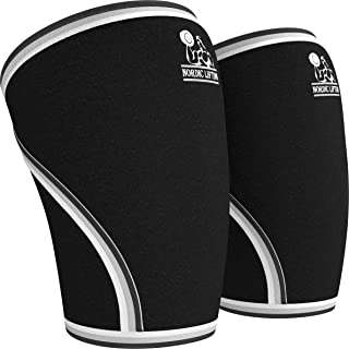 Nordic Lifting Knee Sleeves (1 Pair) Support & Compression for Weightlifting,..