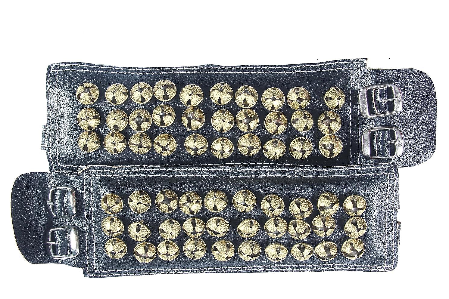 fashionAtelier 3 line Leather Bharatanatyam anklets bells Ghungroo(310 ghungroo)