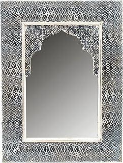Miroir Mural Rectangulaire Marocain Tasnim 60cm Grand | Miroirs Muraux  Cadre En Bois Recouvert De Peinture En Design Oriental Et Metal Décoration  | Murale ...